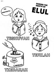 Yom kippur jewish primary coloring page prompt coloring holiday writing language arts color and write religion. Rosh Hashana And Yom Kippur Coloring Pages By Meir Perman Tpt