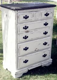 Tall Dresser Bedroom Furniture Distressed Black And White Tall Dresser For The Home