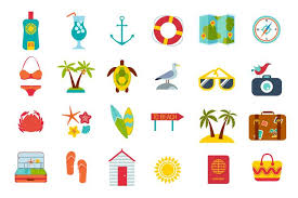 Summer Icons Set Of Summer Icons Download Free Vectors Clipart