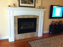 gas fireplace insert tile face of fireplace no hearth fluted surround