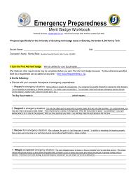 Emergency Preparedness Merit Badge Chart Emergency Preparedness Merit Badge Workbook