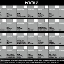 insanity calendar 60 day insanity workout schedule intended for insanity workout plan