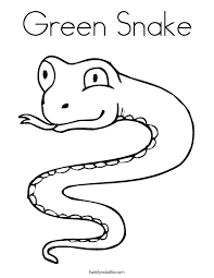 Small Picture Green Snake Coloring Page Twisty Noodle