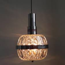 vintage hanging lamp with heavy glass sphere