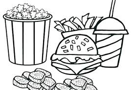Fabulous Junk Food Coloring Pages R2463 Awesome Healthy And Junk