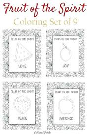 Coloring Fruits Of The Holy Spirit Coloring Pages Fruit Page