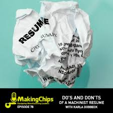 mc do s and don ts of a machinist resume karla dobbeck e78