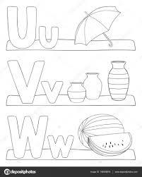 Alfabet Letters Kleurplaat Stockvector Pupahava 149355616