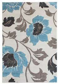 passion fl blue grey cream rugs