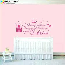 baby girl nursery wall decor custom princess girl name decals wall sticker for kids rooms baby baby girl nursery wall decor