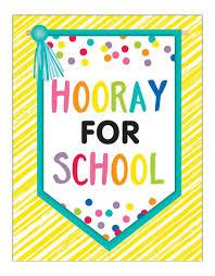 Chart For School Just Teach Hooray For School Chart