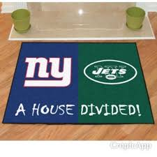 nfl new york giants new york jets house divided area rug mat 34 x