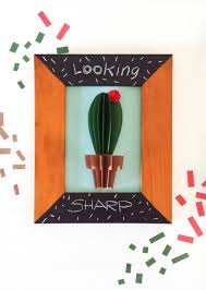 cactus wall art diy on cactus wall art framed with cactus wall art diy make a paper craft that looks great as a wall art