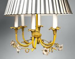 full image for lighting chandeliers contemporary italian tole chandelier with striped shade virginia metalcrafters chandelier
