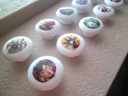 make your own drawer knobs using erfly stickers since our son is getting a superhero bedroom i only thought it fitting to show you how i did his
