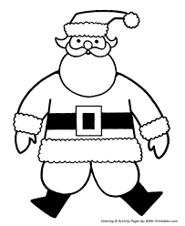 Small Picture Easy Pre K Christmas Coloring Pages Big Jolly Santa
