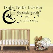 >twinkle twinkle little star wall stickers baby boys girls bedroom  twinkle twinkle little star wall stickers baby boys girls bedroom wall quote decor decals with fairy swinging on the moon