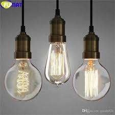 fumat american retro edison bulbs pendant light for stairs european simple bar dinning room lamp bronze iron pendant lamp multi light pendant brass ceiling