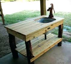 outdoor sink tables outdoor sink table kitchen with fed by a garden hose for cleaning fish