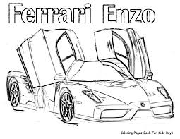 Small Picture Ferrari ENZO Coloring Pages For Kids OS Inside zimeonme