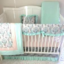 peach crib bedding fl crib bedding set baby bedding crib set baby girl mint teal c peach crib bedding