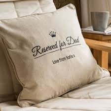 personalised natural cushion