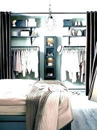 bedroom with no closet ideas for small room storage door wi