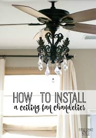 a ceiling fan for scorching temps and the girly sparkly sophisticated chandelier in one