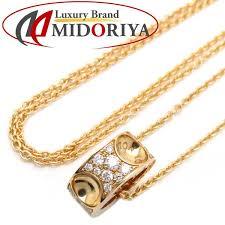 auth louis vuitton 750 yellow gold empreinte diamond necklace 097549 rakuten global market