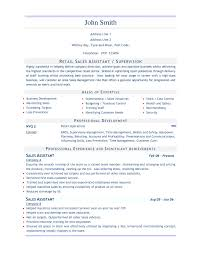 Fashion Sales Assistant Sample Resume Retail Sales assistant Resume Examples RESUME 1