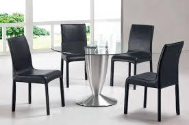 Modern Black Dining Room Sets - Round modern dining room sets