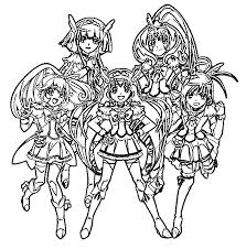 Glitter Force Coloring Page 131 Coloring Pages Glitter Force