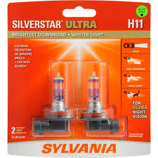 sylvania h11 silverstar ultra headlight contains 2 bulbs com