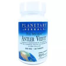 <b>Full Spectrum</b> Antler Velvet 250 mg 60 Tablets - Planetary Herbals