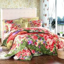 vintage country style colorful fl print bedding set queen size king quilt cover bed sheets cotton leather beddin