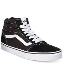 black and white vans shoes high top. vans men\u0027s ward suede hi-top sneakers black and white shoes high top n