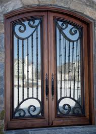 teano solid timber and wrought iron entry front door