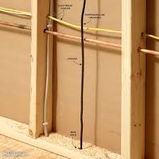 How To Cover Wires Fishing Electrical Wire Through Walls Family Handyman