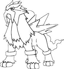 Coloriage Pokemon Entei A Imprimer Gratuit L
