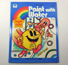 Pac Man Paint With Water Coloring Book Whitman 1982 Unused Whitman
