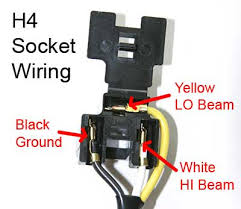 installation h4 socket wiring2