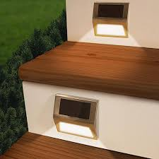 outdoor stair lighting solar. touch of eco sunstep solar step lights 2pk small · deck outdoor stair lighting s