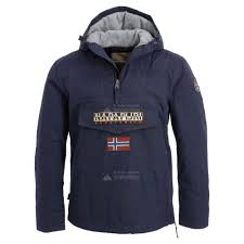 Anorak Heren Rainforest Napapijri Navy Blauw Winterjas