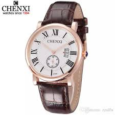 rose gold watch men leather band quartz og date wrist watch fashion luxury men s watches small dial can work clock male ing watches a