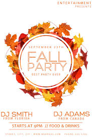 Fall Flyer Fall Party Flyer Template Postermywall
