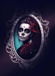 sugar skull dia de los muertos photo manition by melody nieves