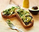 avocado and vegemite on toast