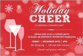 Office Holiday Party Invitation Wording Combined With Invitation