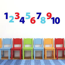 number wall decals number wall decals for kids playroom vinyl decal wall stickers numbers for kids