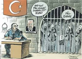 Afbeeldingsresultaat voor geblokkeerd door turkije cartoon